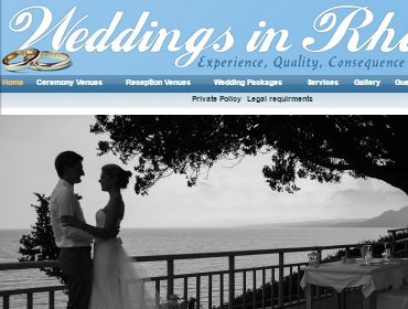 Wedding Organizer Rhodes, Website, CMS