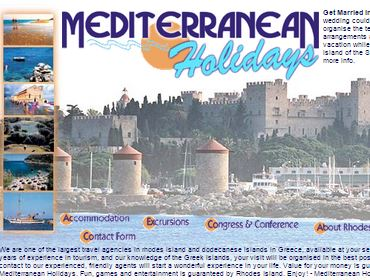 Mediterranean Holidays Trave Agency, Website