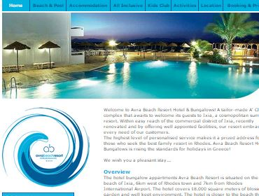 Avra Beach Hotel, Website