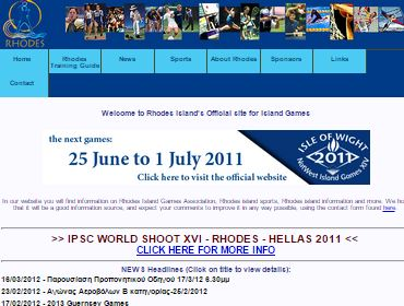 Island games association - CMS, Website, Photography, Non profit