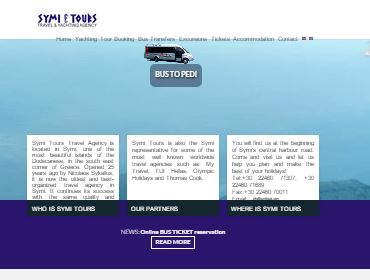 Symitours Travel Agency, Website, Photorgraphy, CMS, Application